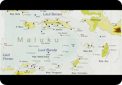 Kondis Geografis Pulau Papua dan Maluku Berdasarkan Peta (Luas, Batas, dan Keadaan Alam)