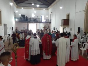 Missa com Dom Francisco Lucena, marca dia do Padroeiro de Povoação de São Lourenço