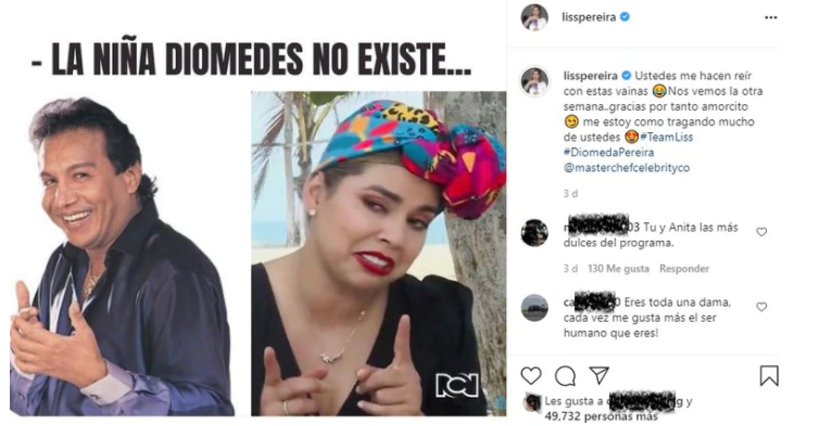 meme liss pereira y diomedes