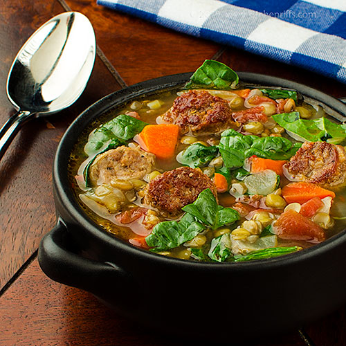 Italian Sausage and Lentil Soup
