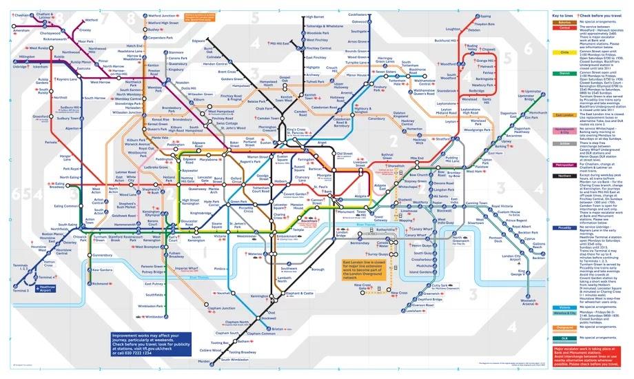 Full Map Of London.London Tube Map London Underground Map Full Of Entertainment
