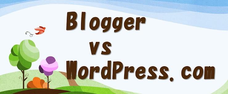 ほのぼの丘の上のBlogger vs WordPess.comロゴ