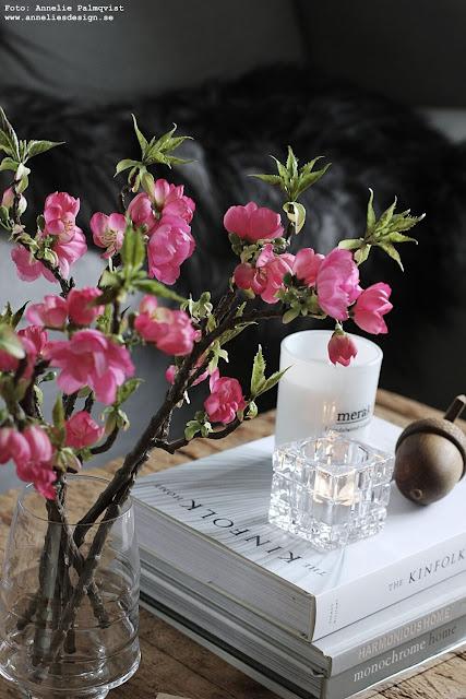 annelies design, webbutik, webbutiker, nätbutik, nätbutiker, inredning, äppelblommor, naturtrogna blommor, blomma, ljuslykta, meraki, doftljus, ekollon,