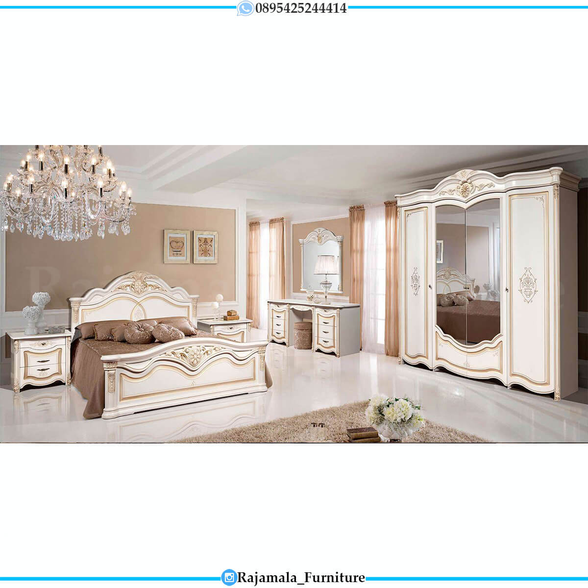 Tempat Tidur Mewah Jepara Luxury Carving Best Seller This Year RM-0697