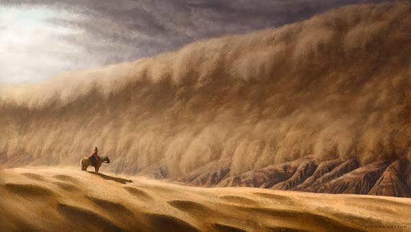 Raraku et le mur de sable de Dryjhna