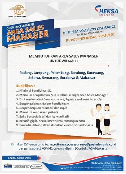 Lowongan Kerja Pos Indonesia Heksa Solution Insurance September 2020 Rekrutmen Lowongan Kerja Bulan Juni 2021