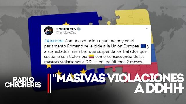 Parlamento Romano: votación unánime pide suspender Tratado de Libre Comercio de Unión Europea con Colombia
