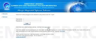 Halaman untuk membuat akun e-licensing Ijin Stasiun Radio