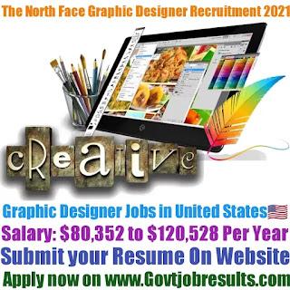 The North Face Graphic Designer Recruitment 2021-22