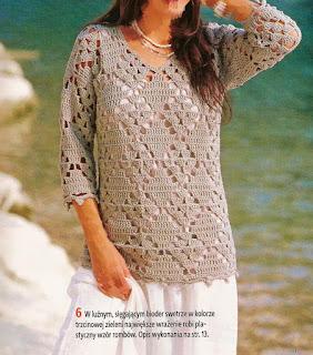 Sweater by diamonds stitchs