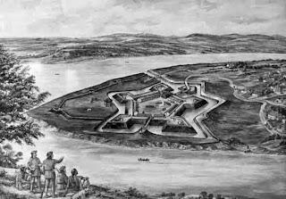 Fort Pitt en una ilustración antigua