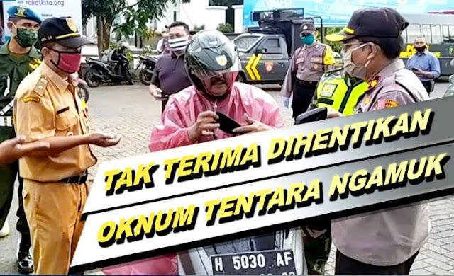 Tak Terima Dihentikan Polisi, Oknum TNI di Semarang Ngamuk: Hey, Saya Juga Mau Operasi Ini!