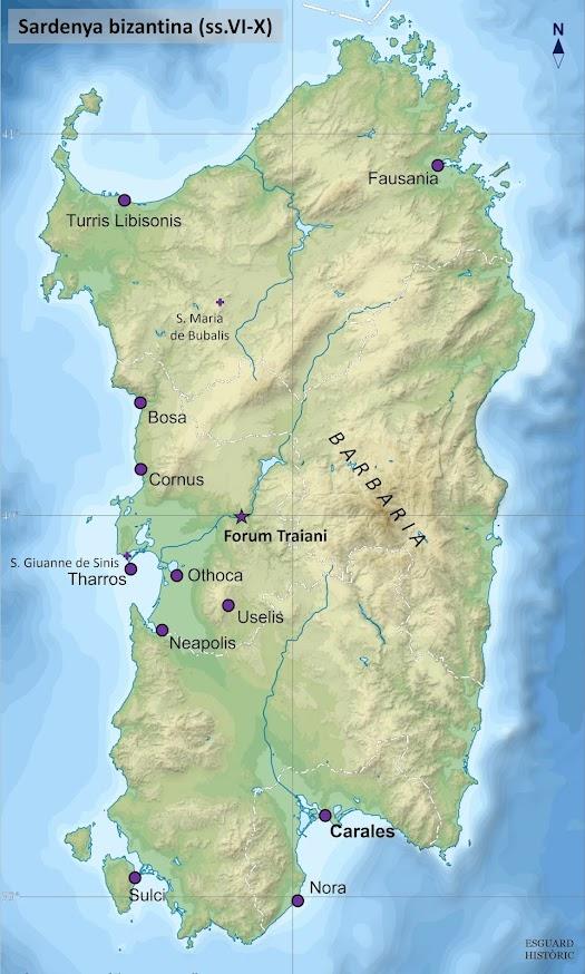 Mapa Sardenya bizantina