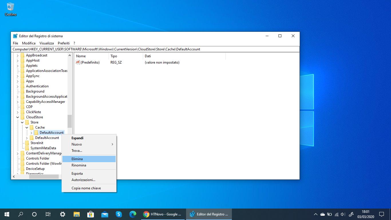 Eliminare-chiave-registro-ripristinare-menu-start-windows-10