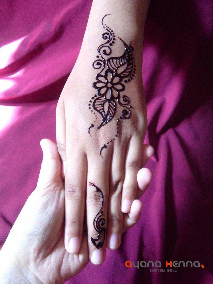 Contoh Desain Henna Simpel Dan Mudah Digambar Ayana Henna