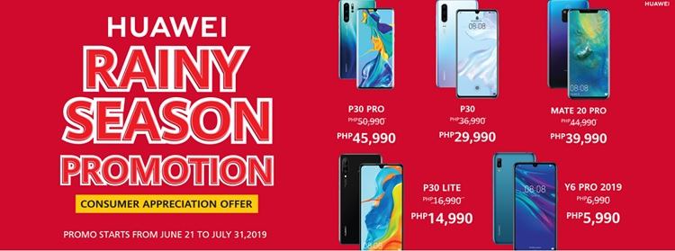 Huawei Announces Rainy Season Promo, Score P30 Pro for only Php45,990!