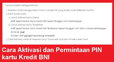 Mempunyai kartu kredit tentunya akan memberikan keuntungan bagi yang bisa menggunakan kar Cara Aktivasi dan Permintaan PIN kartu Kredit BNI