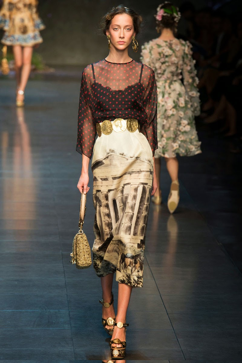 Dolce And Gabbana Dresses Google Search: Loveisspeed.......: DOLCE&GABBANA SPRİNG 2014 RUNWAY