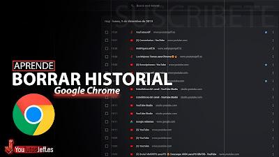 eliminar historial google chrome