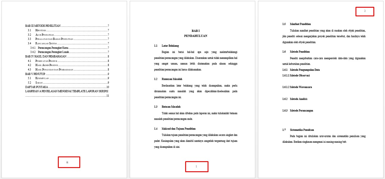 Cara Membuat Halaman Di Word Untuk Skripsi Praktek Langsung Pakar Dokumen