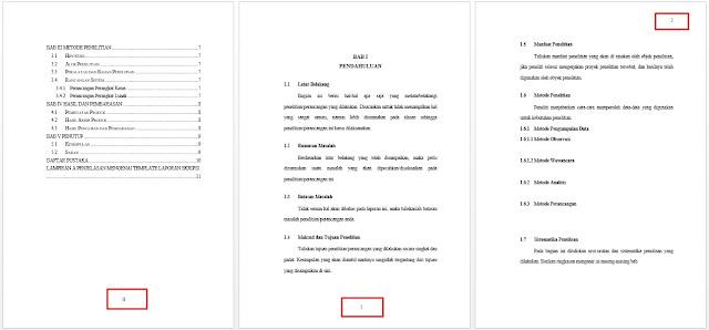 cara membuat halaman di word untuk skripsi - daftar isi