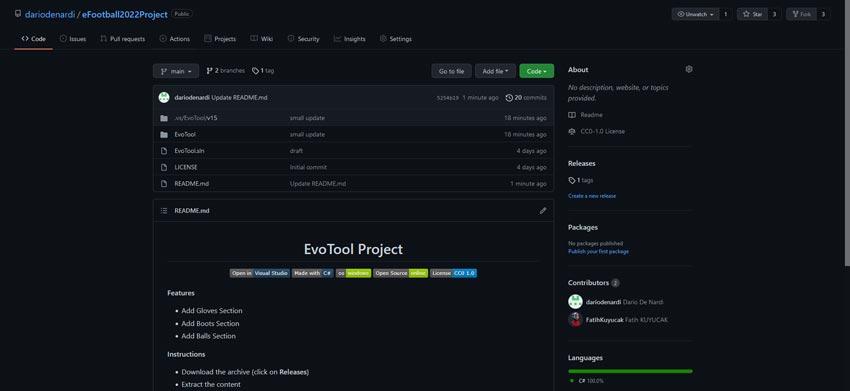 eFootball 2022 EvoTool 0.0.0.1