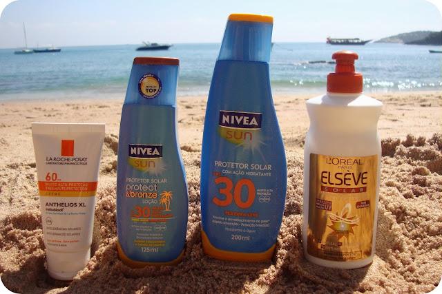 Protetor Solar Para Rosto, Corpo e Cabelos verão