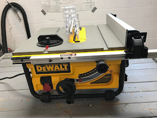 My DeWalt table saw - all set up and ready to go