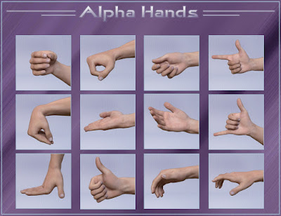 Alpha Hands - Hands Poses for Genesis 3 Male