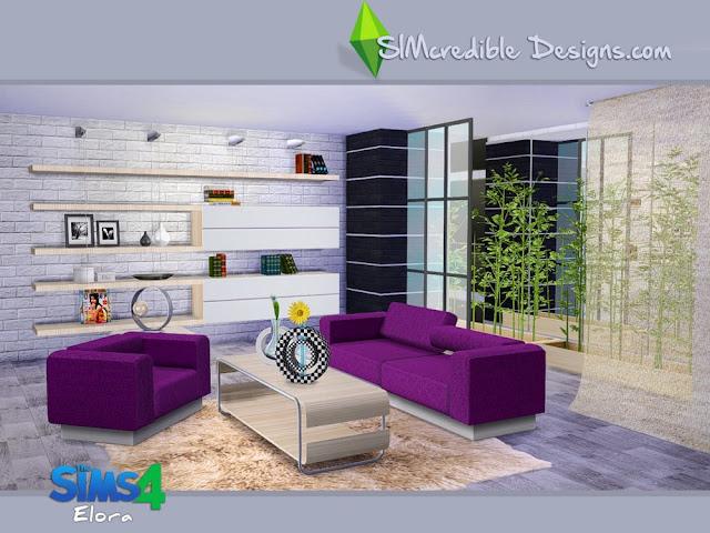 Гостиная — наборы мебели и декора для Sims 4 со ссылками для скачивания