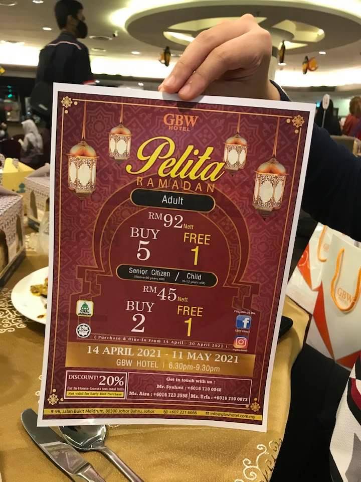 Buffet Ramadhan GBW Hotel 2021