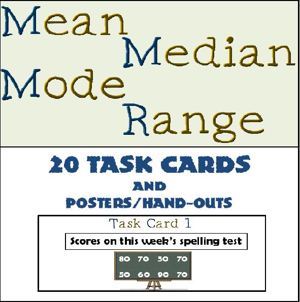 Teacher 39 S Take Out Mean Median Mode Range Task Cards