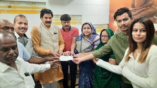 राम मंदिर निर्माण हेतु वैष्णव एवं पटेल परिवार शहद अल्पसंख्यक नेता ने भी दिया दान