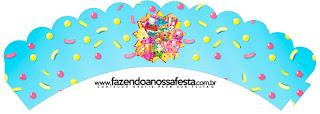 Wrappers para Cupcake de Fiesta de Shopkins.