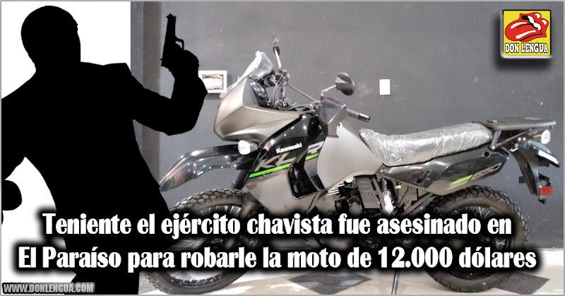 Teniente el ejército chavista fue asesinado en El Paraíso para robarle la moto de 12.000 dólares