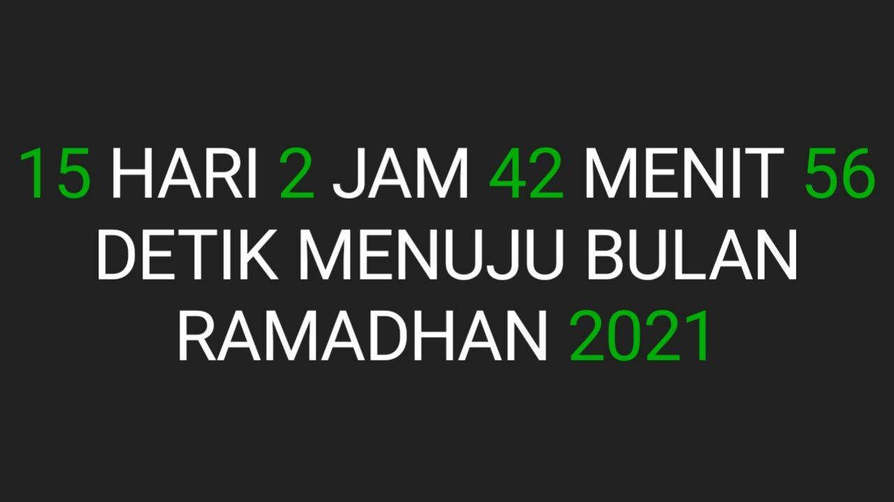 Cara Membuat Widget Hitungan Mundur Puasa Bulan Ramadhan 2021