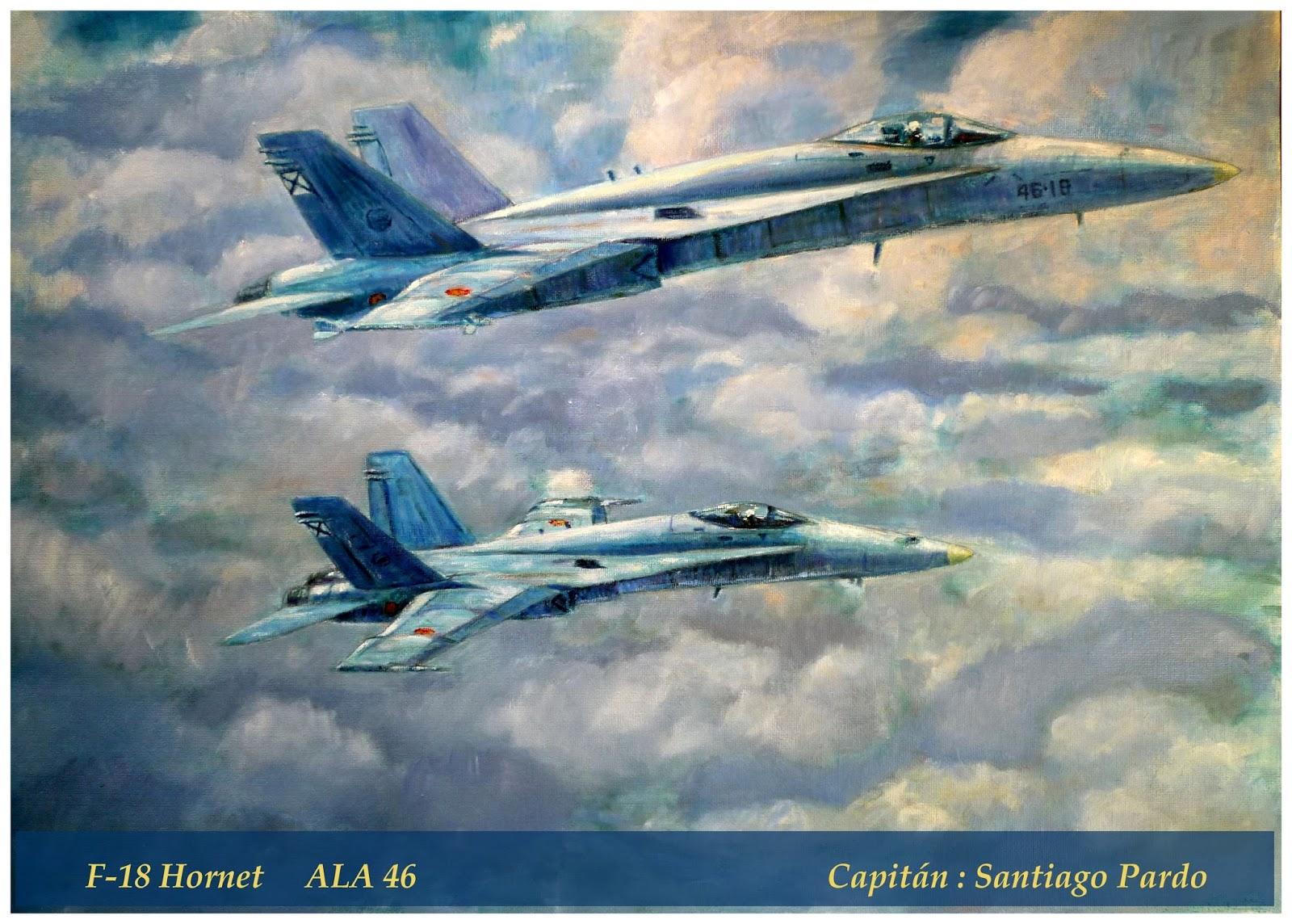 Oleo de dos F18 Hornet