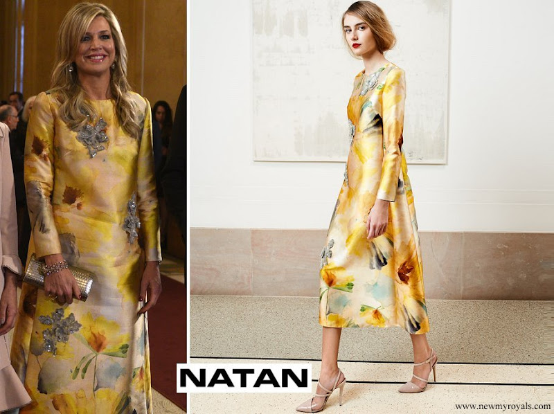 Queen Maxima wore Natan Dress from spring summer 2018 natan couture