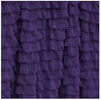 Plum Purple Ruffle Shower Curtain