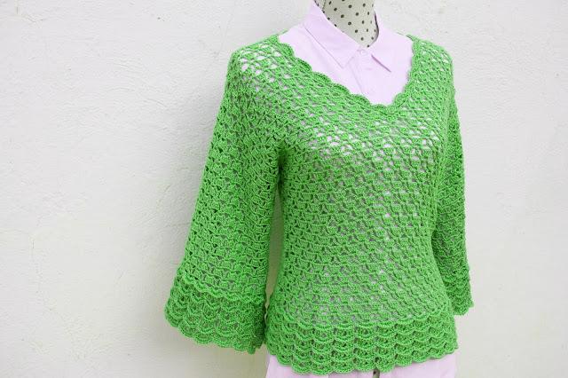 4 - Imagen Crochet Blusa de mujer a crochet y ganchillo parte 2 por Majovel Crochet