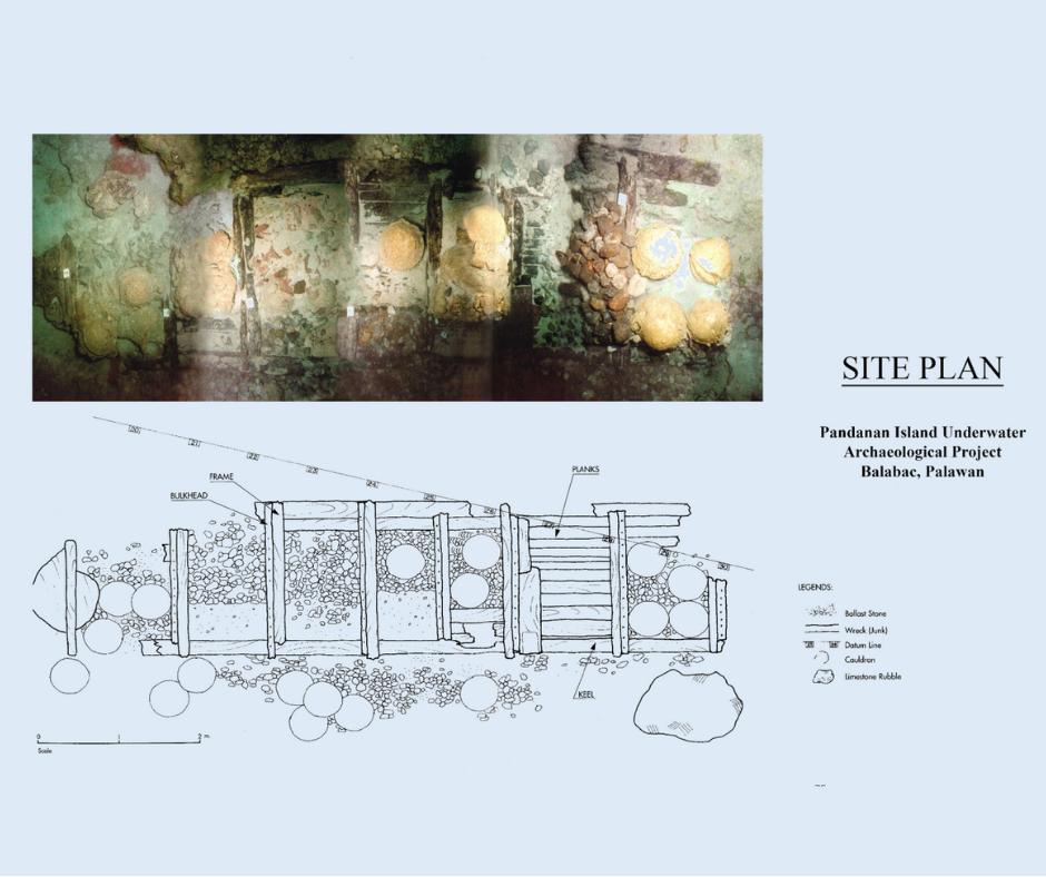Pandanan shipwreck site plan