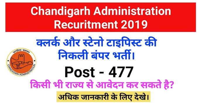 CHD Administration Clerk Recruitment 2019 Apply 477 Posts.
