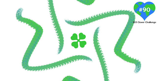 Drawing of a four leaf clover