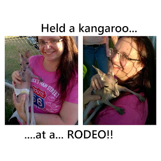 I held a kangaroo at a rodeo!