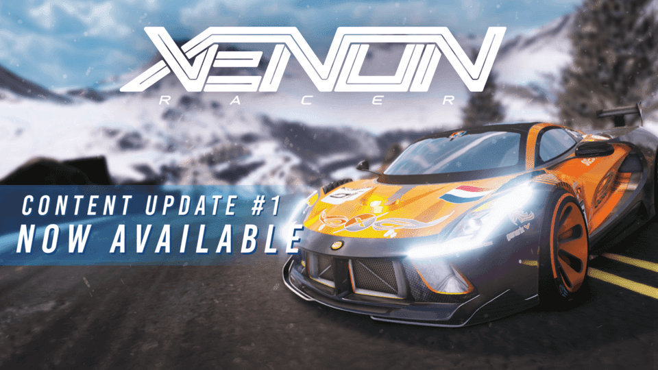 "Free Xenon Racer Content Update #1 Adds New Location ""Grand Alps"" And Car"