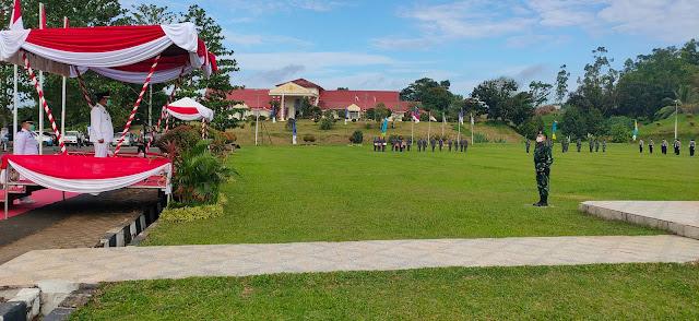 Peringatan HUT RI Ke-75 di Tanjabtim, Upacara Pengibaran Bendera Sukses