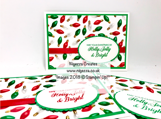 Merry & Bright Quick Christmas Card Nigezza Creates