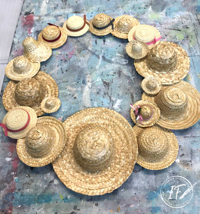 DIY Straw Hat Wreath