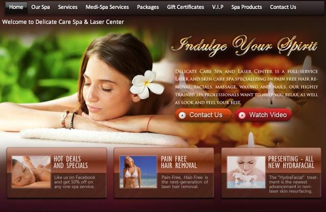Dịch vụ thiết kế website spa, tiệm cắt tóc chuyên nghiệp