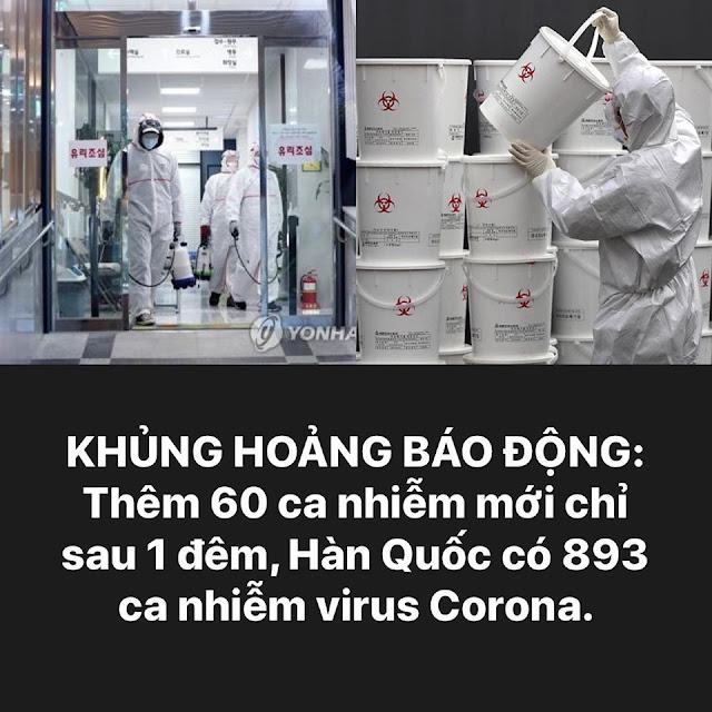 Khủng hoảng báo động: Thêm 60 nhiễm bệnh mới chỉ sau 1 đêm ở Hàn Quốc